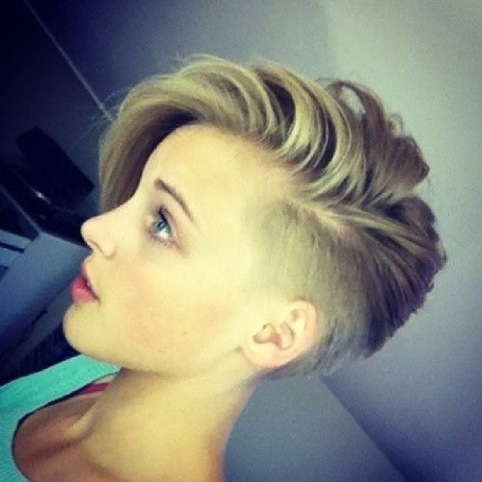 Shaved sides womens haircuts