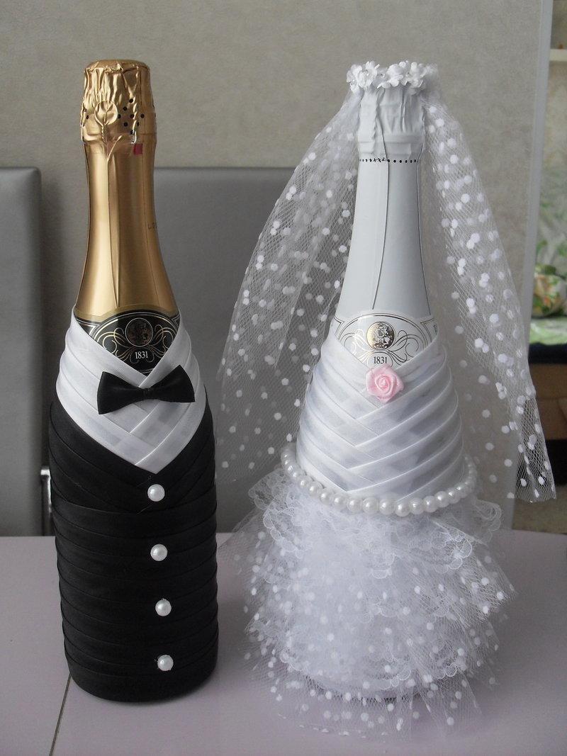 Как украсить шампанское своими рука