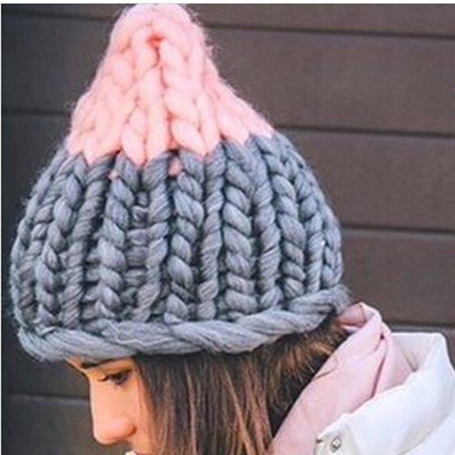 Вязание крупными спицами шапка 166