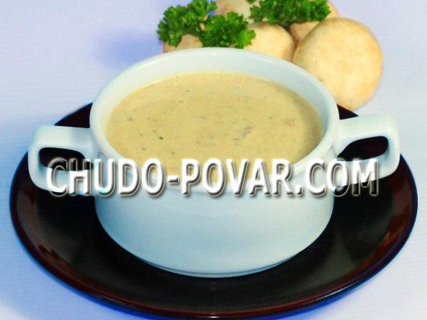 Диетический крем-суп из шампиньонов рецепт
