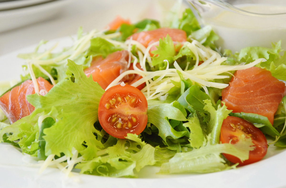Салат цезарь пошаговый рецепт с с семгой 138