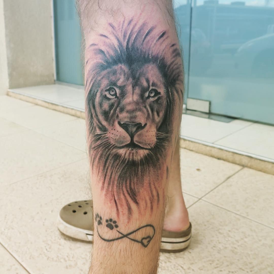 Лев татуировка: значение и фото 28