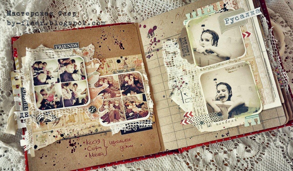 Оформление старого фотоальбома своими руками 22