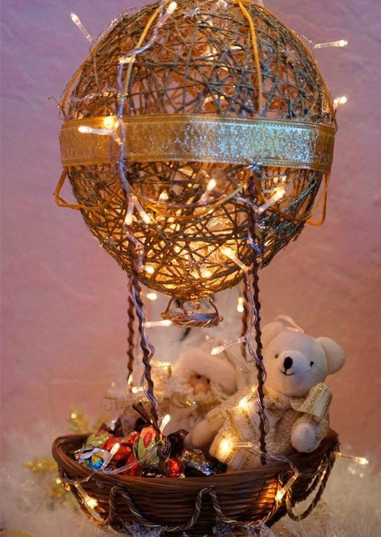 Новогодние поделки своими руками с шариками