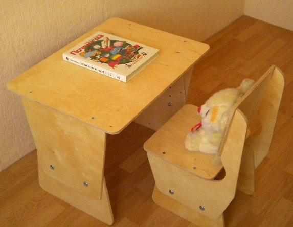 Детский стол из дерева своими руками 55