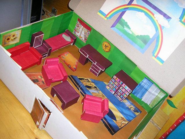 Мебель для куклы своими руками из спичечных коробков