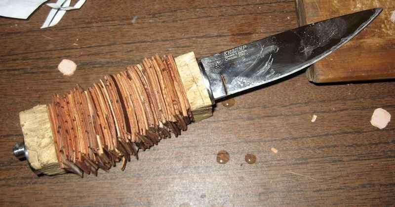 Ручка для ножа своими руками ютуб 66