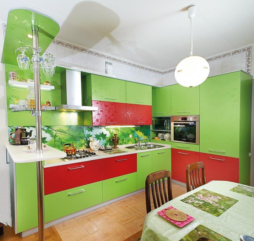 Сочетание цветов для кухни фото