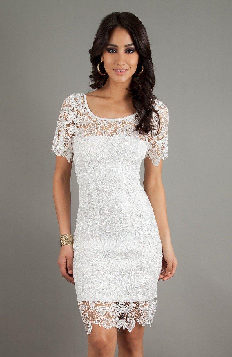 Белое платье с кружевом своими руками 79