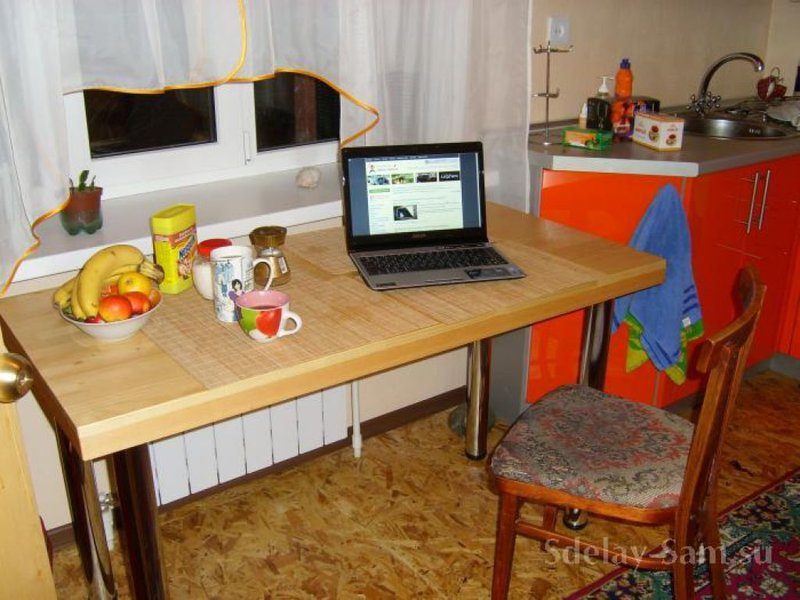 Кухонный стол своими руками столешница