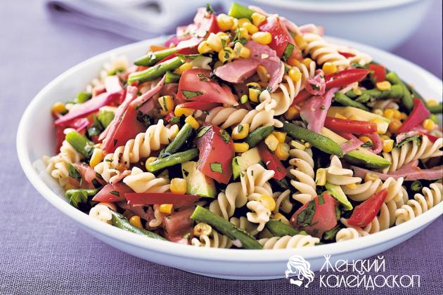 Салат из макарон рецепт с