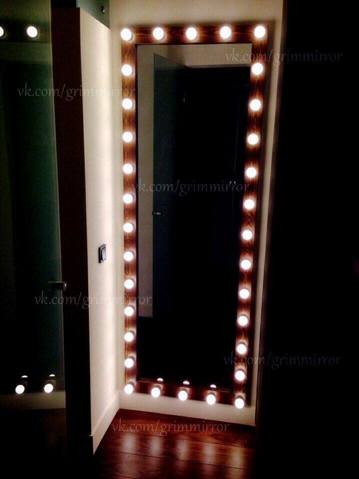 Как сделать зеркало с лампочками самому