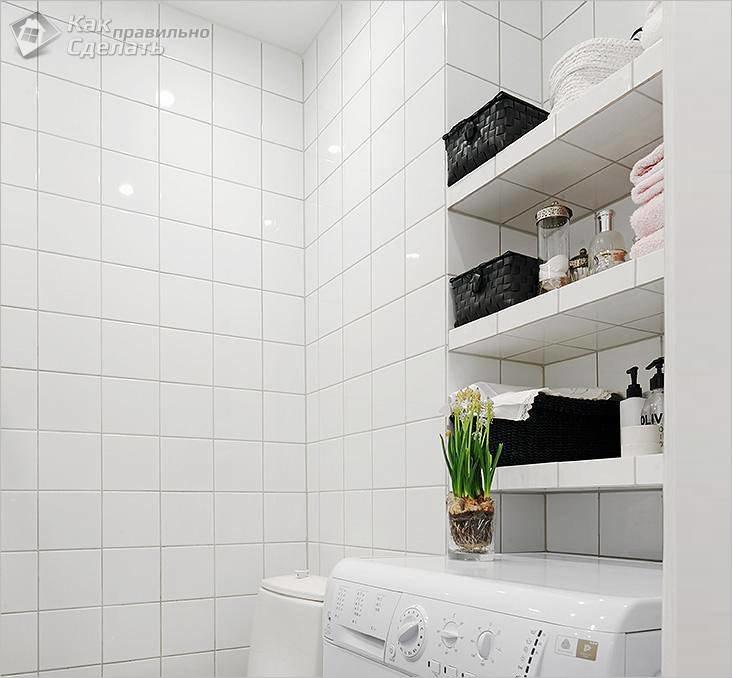 Полки для ванной комнаты своими руками из гипсокартона 611