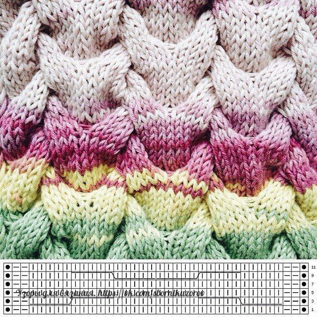 Вязание спицами фасонный жгут