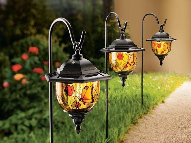 Светильники в сад своими руками 87