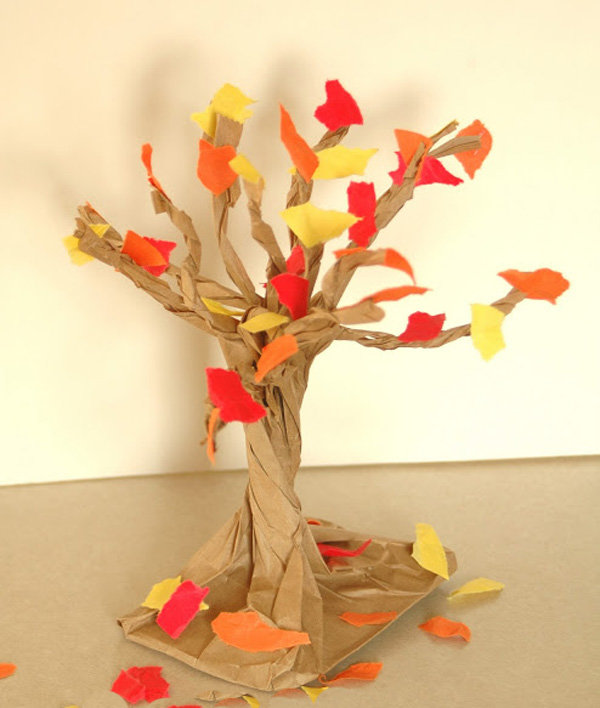 Поделка дерево осень руками пошагово 27