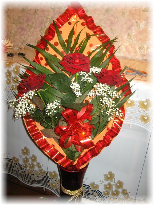 Оформление букета цветов своими руками