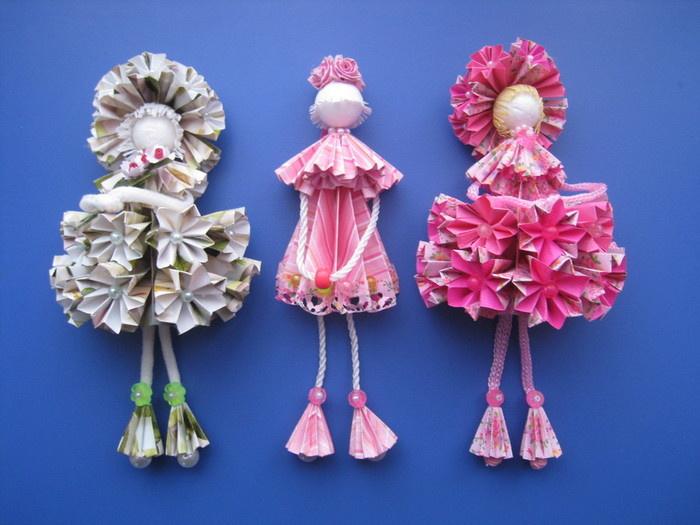 Поделки куклы с оригами 147