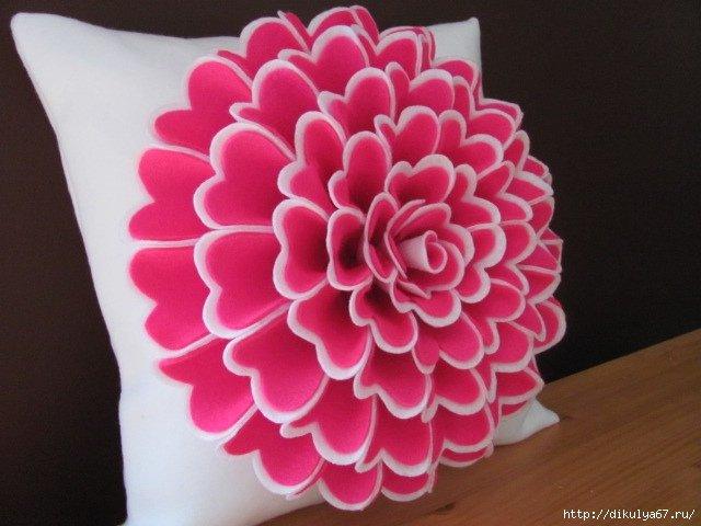 Подушки с цветами своими руками