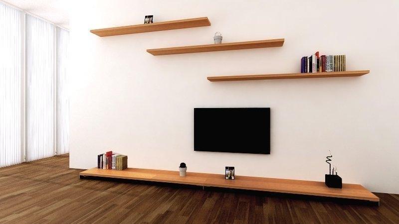 Полки на стену в гостиную