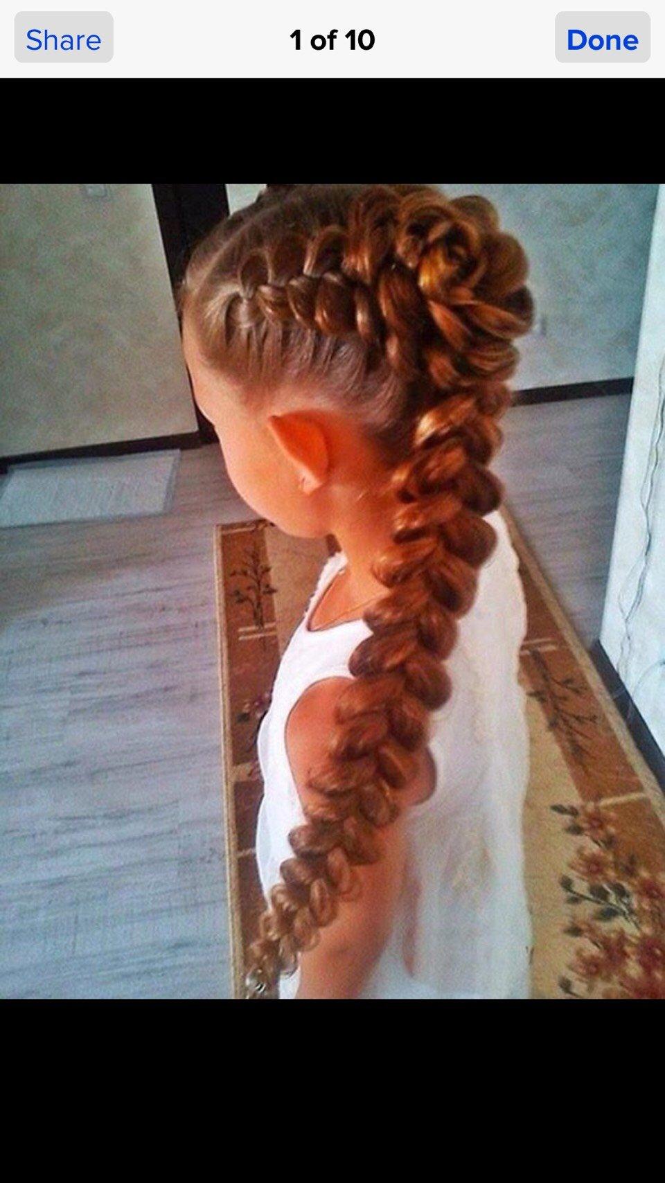 Детская прическа на длинные волосы косички