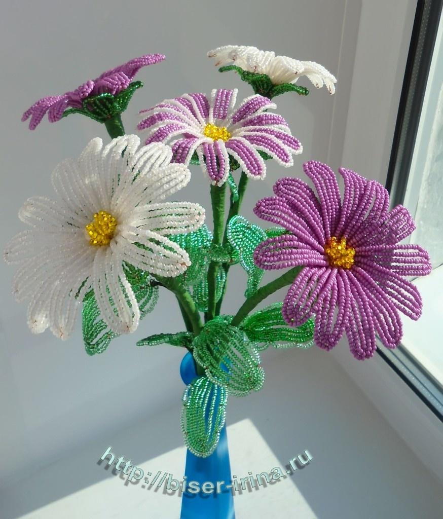 Показать поделки из бисера цветы 59