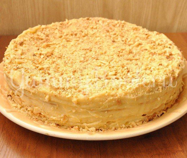 Пошагово торт наполеон с фото рецепт
