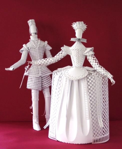 Объемные куклы из картона своими руками 36