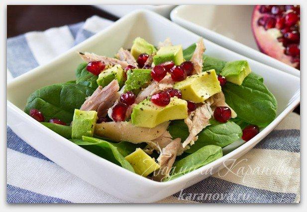 Салат из авокадо и курицей рецепт с