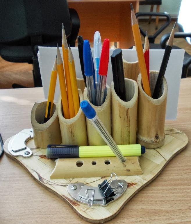 Как сделать органайзер для канцелярии своими руками из втулки 31