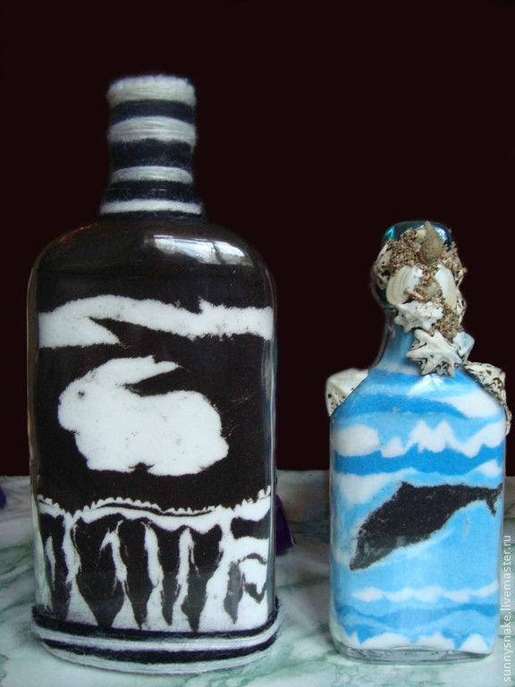 Бутылка солью своими руками