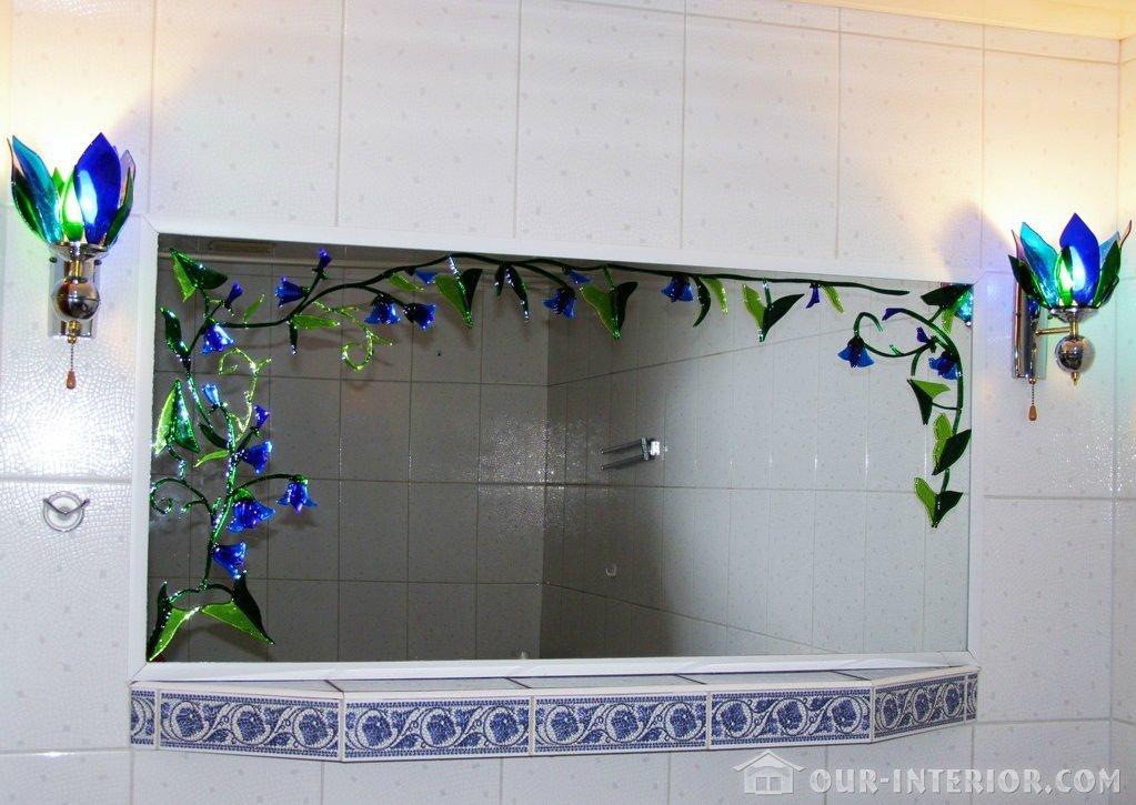 Зеркало в ванной своими руками 57