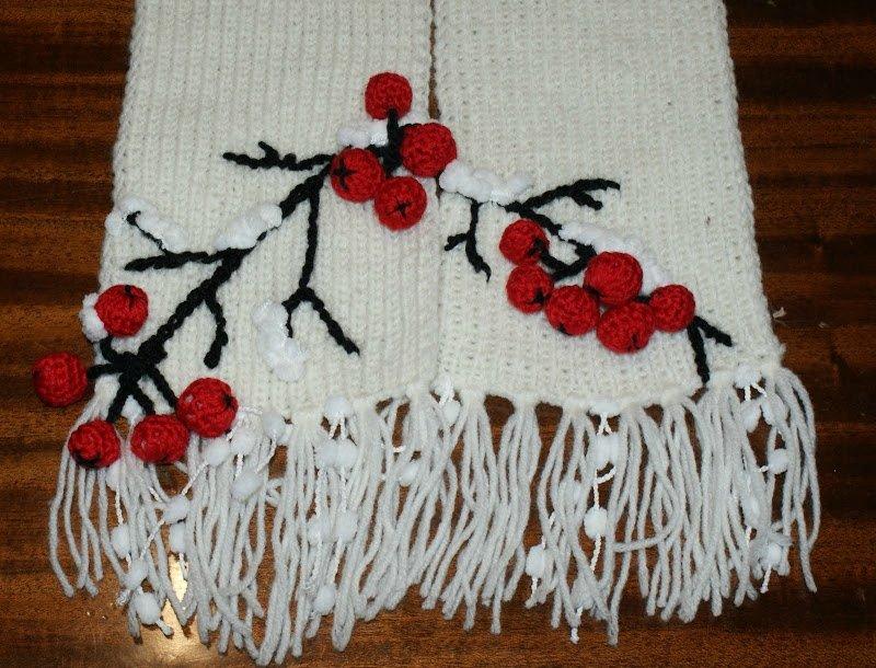 Аппликация на детском шарфе