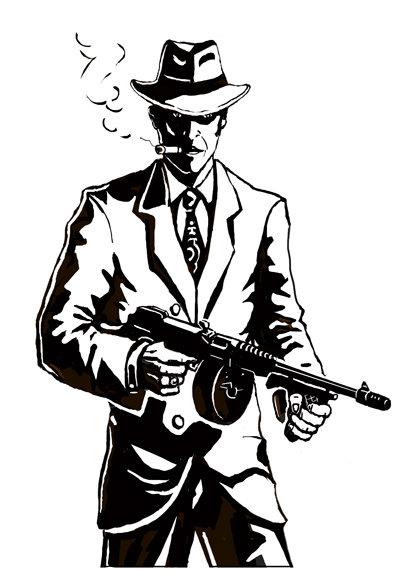 Рисунки простым карандашом профессиональные гангстеры