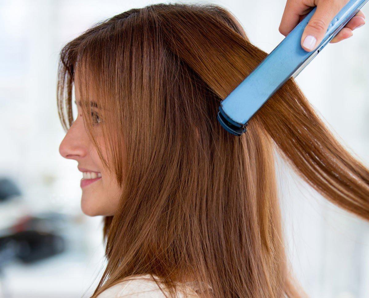 Как сделать волосы прямыми феном