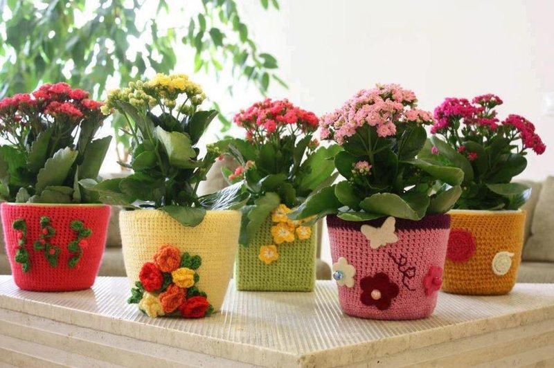 Фото цветочных горшков своими руками