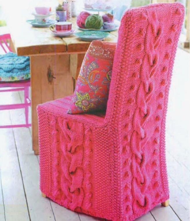 Вязание крючком на кресла 852