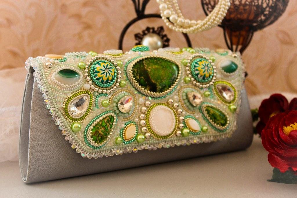 Декор бусинами сумки своими руками мастер класс 92