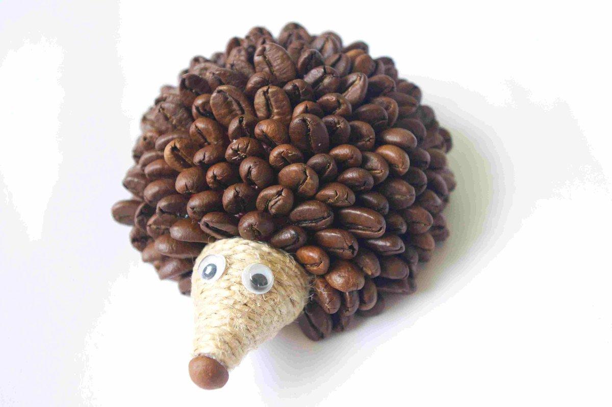 Ежик из кофе мастер класс с пошаговым