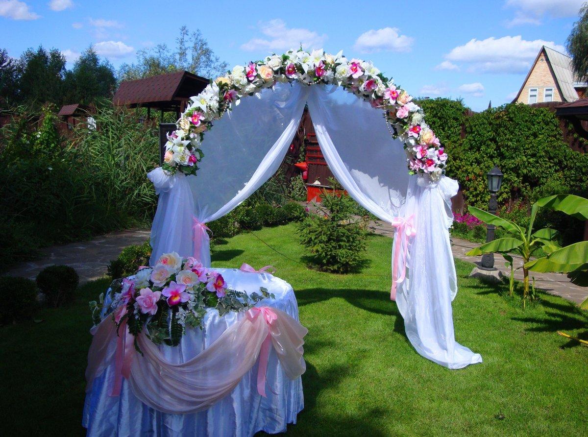 Декор свадьбы на природе фото