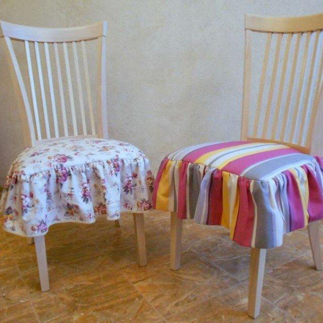 Чехлы на стулья в кухне своими руками 1098