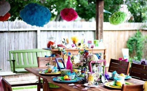 День рождения как украсить двор