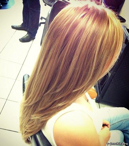 Стрижка лесенка на волосы вид сзади