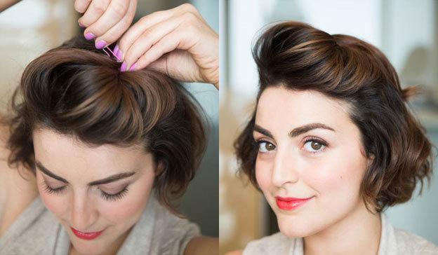 Прически для коротких волос в домашних условиях на праздник 953