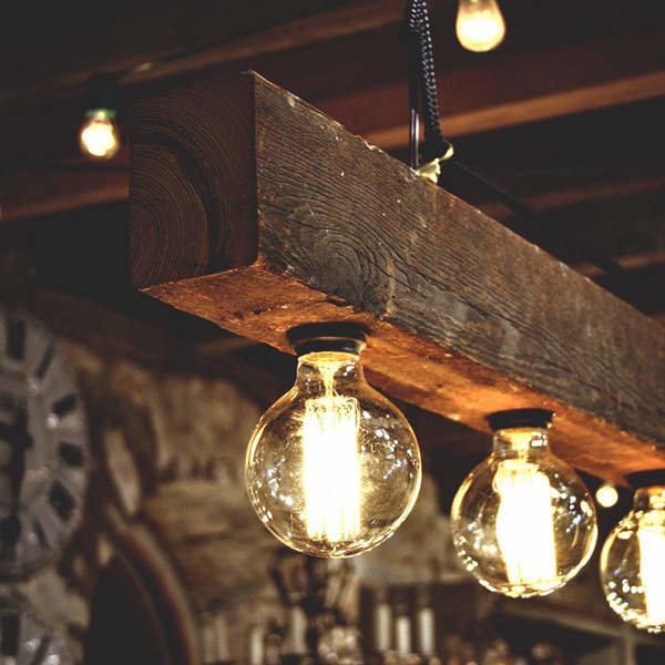 Ретро светильники в интерьере фото