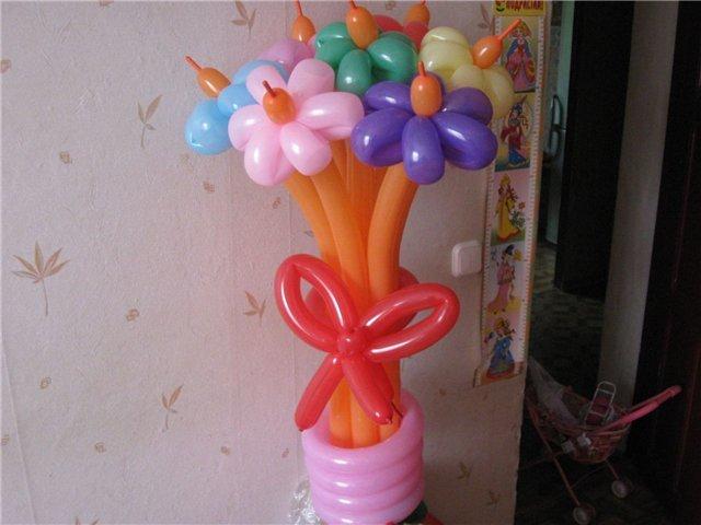 Букет из надувных шариков как их сделать