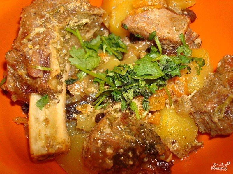 Жаркое в горшочках мясо с грибами пошаговый рецепт