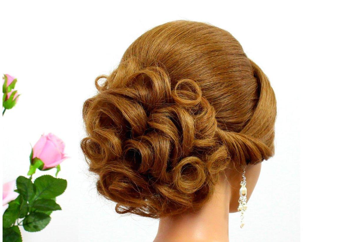 Красивые прически на средние волосы на вечер фото