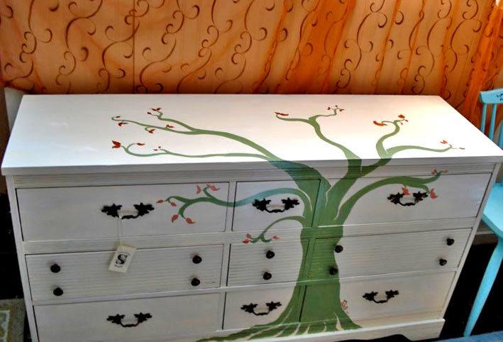 Перекраска мебели своими руками 33