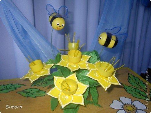 Поделки из киндера сюрприза пчёлки